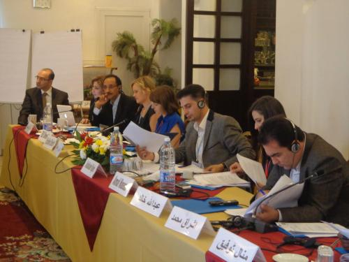 Participants attend first MENA roundtable for civil society on RtoP.  Photo credit: PPM