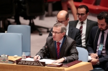 Security Council Meeting: The situation in Libya. Vote, 15 in favor.