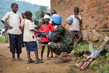 MONUSCO Uruguayan Peacekeepers intensify Patrol in Pinga