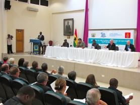 The third annual global focal points meeting in Accra, Ghana, convened by the Global Centre for the Responsibility to Protect, which acts as the network Secretariat. Photo courtesy of GCR2P.