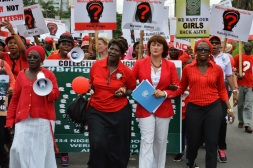 Rally for the Nigerian schoolgirls abducted by Boko Haram. Photo credit: UN photo.